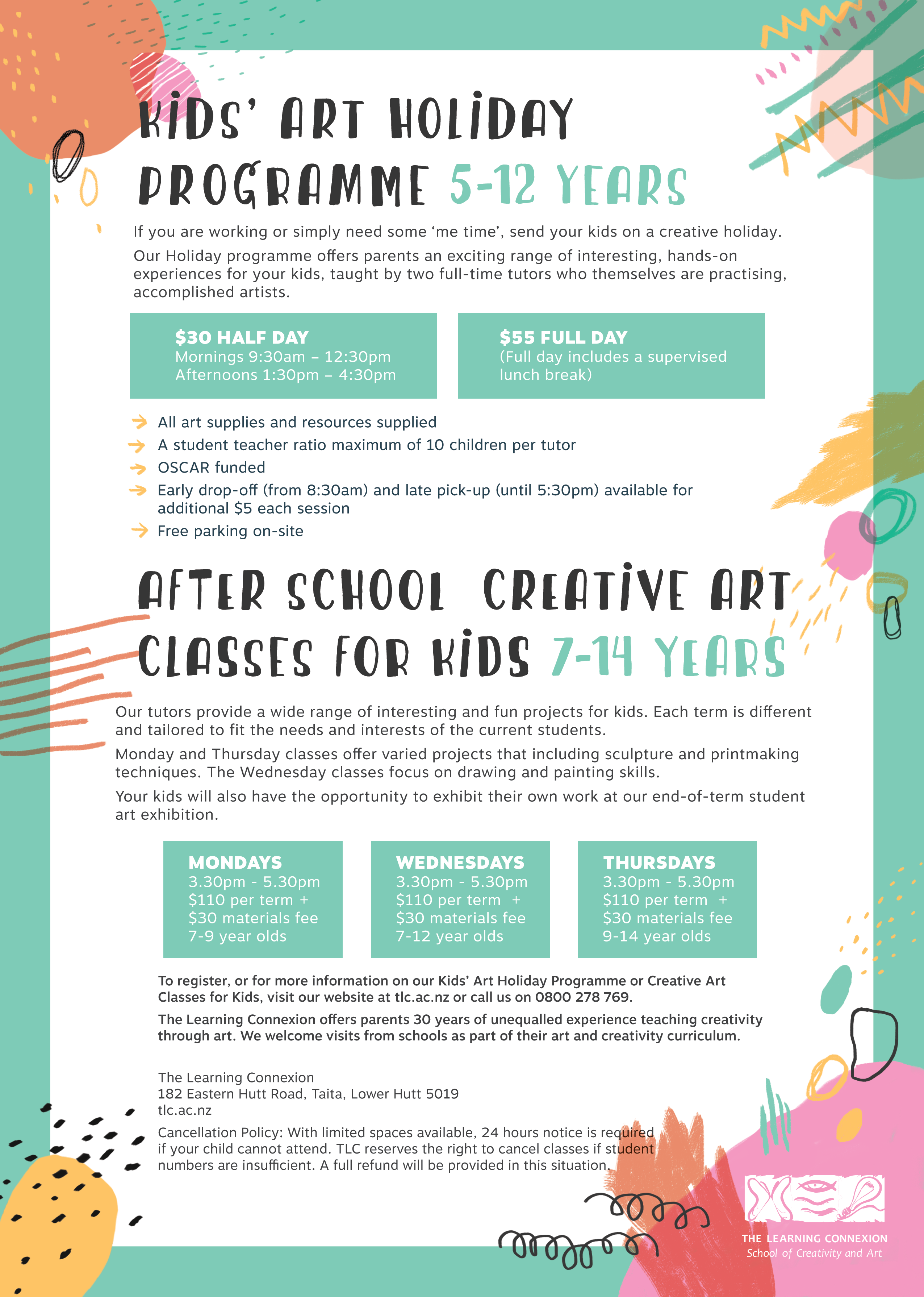 Art Classes for Kids » The Learning Connexion